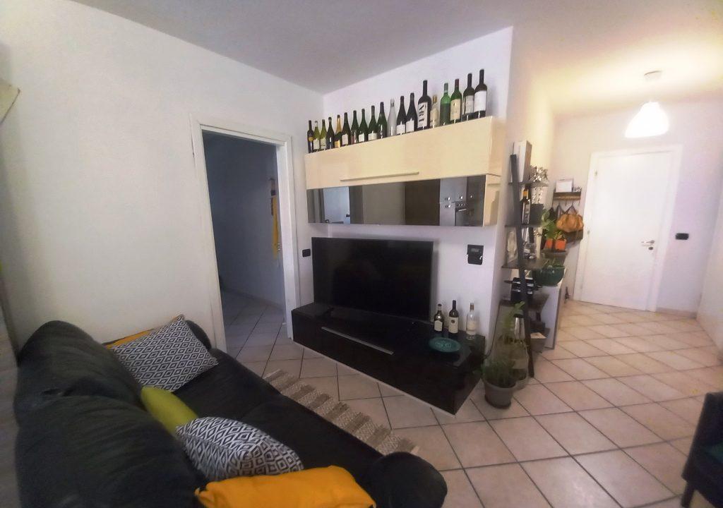 soggiorno appartamento restaurato Colorno