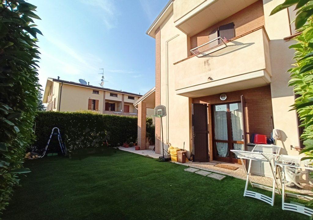 giardino casa a schiera Sant'Andrea